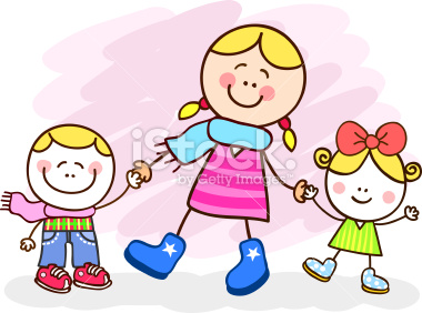 stock-illustration-14515568-white-young-mother-and-kids-cartoon-illustration